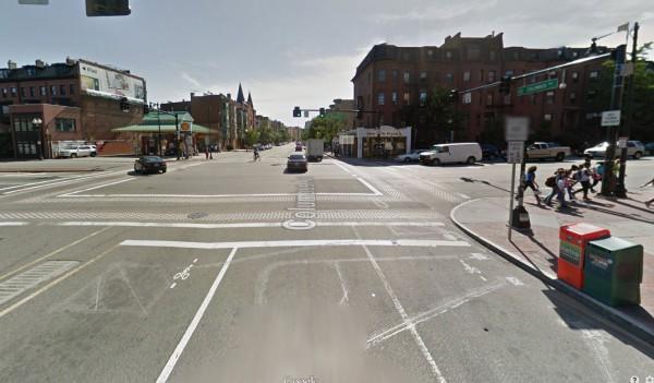 Columbus Avenue approaching Massachusetts Avenue, August, 2013